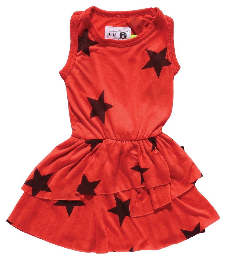 2015 Spring NUNUNU red stars paragraph style dress cake