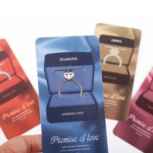 Dessin x FUNZAKKA- promise of love modeling Bookmarks - diamonds, BZC21783