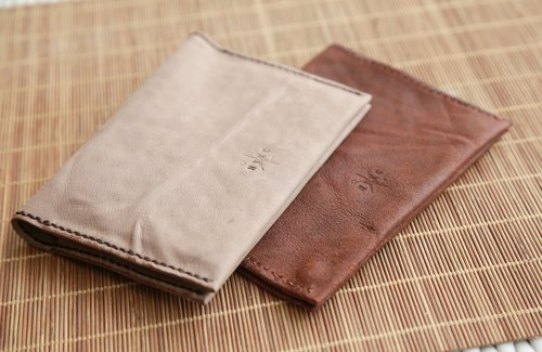 Hand stitched Washed Leather Passport Cover, Minimal Passport Cover