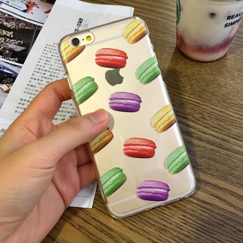 Macaron Pattern Print Soft / Hard Case for iPhone X,  iPhone 8,  iPhone 8 Plus, iPhone 7 case, iPhone 7 Plus case, iPhone 6/6S, iPhone 6/6S Plus, Samsung Galaxy Note 7 case, Note 5 case, S7 Edge case, S7 case
