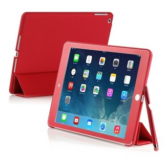 SIMPLE WEAR iPad Air Cover-Mate + dedicated hard shell protective sleeve - Shensui Red (4716779653526)