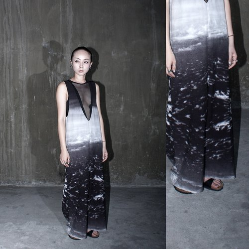 JUBY CHIU / clouds - air view video piece Pants