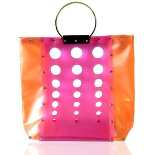 "Screws assembly Shito out ""building"" theme bright personality mixed colors handbag city (Hong Kong Design brand)"