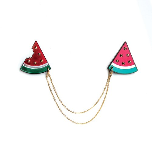 Watermelon collar pin