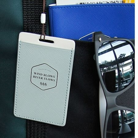 Dessin x Iconic- wonderful journey luggage tag Ver.2- mint green, ICO81876