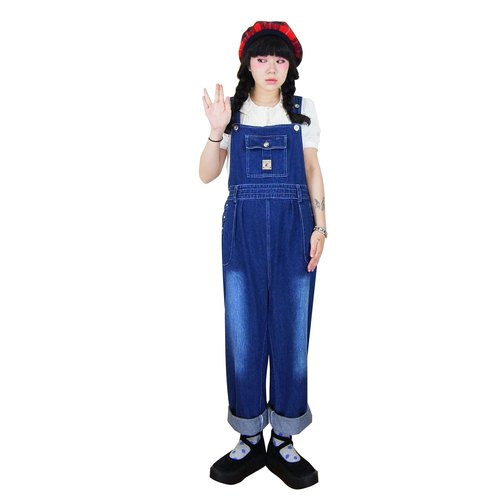 A PRANK DOLLY - retro VINTAGE after a drawstring waisted trousers straight vintage denim sling
