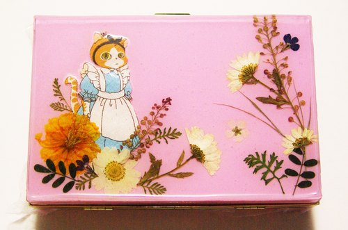 Yahua Pressed Flowers Clutch / Alice in the wonderland / Cat