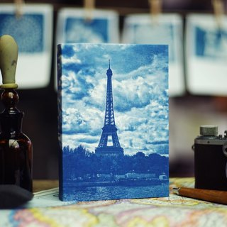 Handmade cyanotype notebook --sur-Seine