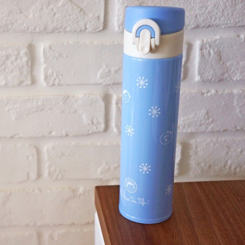 FiFi lightweight thermos bottle - Christmas snowflake (blue)