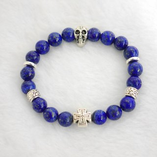 S & amp; A blue color of lapis beaded bracelet