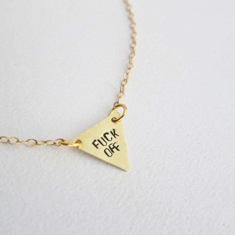 "New York super-ram ""inverted triangle necklace tagline"" freedom Seal mother alphanumeric message"