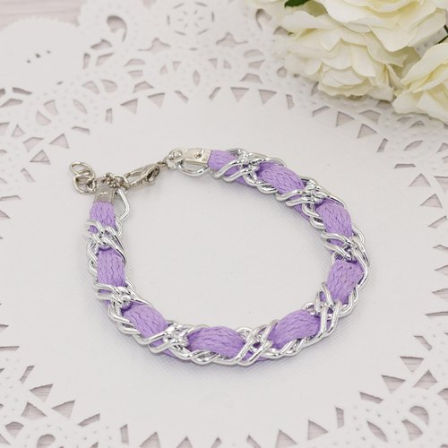 * Poof Princess sugar - flat lacing diamond bracelet (purple taro)