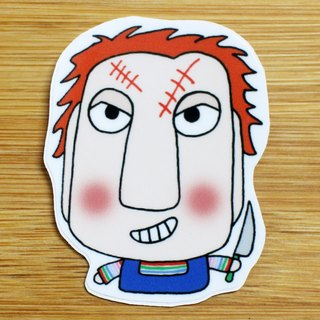 Waterproof Stickers (Small) _ Bad Guy Series 04 (Cha Ji)