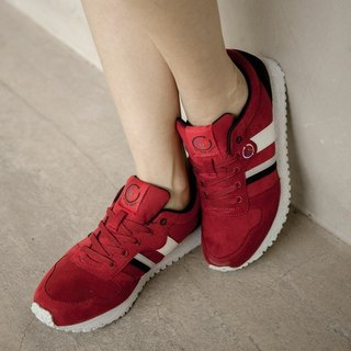 RETRO RUNNING SHOES  Merlot ULTRASUEDE Eco-friendly shoes for WOMEN