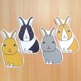 Big rabbit Stickers (a group of four)