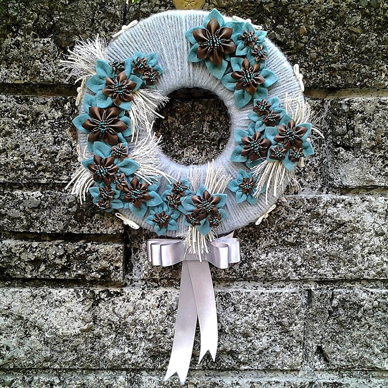 MFP excellent Yaou wind blue-gray hand-wreath round