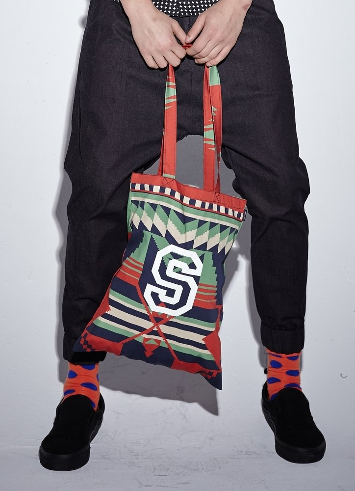 Stone'As 2014 S / S Collection Ethnic hand-printed bag Tote Bag