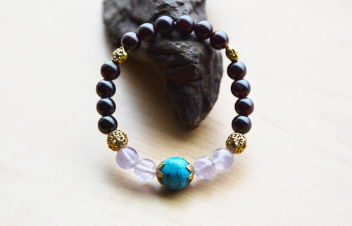 Pomegranate Danzi Yu Great cm ho blue turquoise copper accessories customized lucky elastic bracelet
