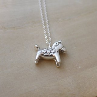[Jin Xialin ‧] Dala horse necklace jewelry - sterling silver bright polished