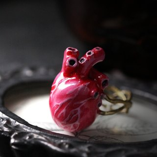 Anatomical Heart Ring by Defy - Handcrafted Painting - Statement Ring Jewelry - Adjustable