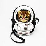 現貨 Sleepyville Critters酷樂村 美國設計-無辜大眼虎斑貓太空人童趣造型斜揹動物包 86075UB