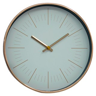 Mod - white rose gold line wall clock (metal)