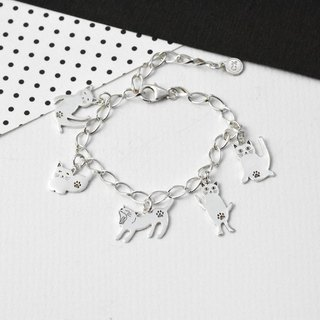 Kitty's wonderland (925 sterling silver bracelet) - C percent jewelry