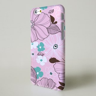 Vintage pink floral pattern 04 3D Full Wrap Phone Case, available for  iPhone 7, iPhone 7 Plus, iPhone 6s, iPhone 6s Plus, iPhone 5/5s, iPhone 5c, iPhone 4/4s, Samsung Galaxy S7, S7 Edge, S6 Edge Plus, S6, S6 Edge, S5 S4 S3  Samsung Galaxy Note 5, Note 4,