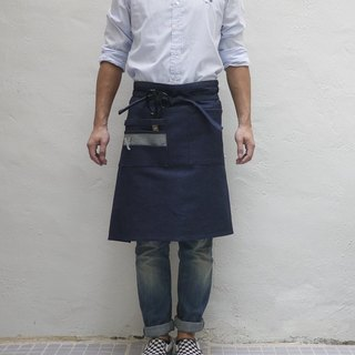 Denim 01 Knee Length Apron — Square Pockets