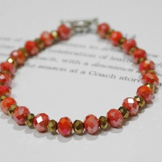 Czech crystal bracelet _ red season / / can change the elastic bracelet / / => limited X1