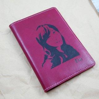 APEE leather handmade ~ Extension passport holder ~ flaming