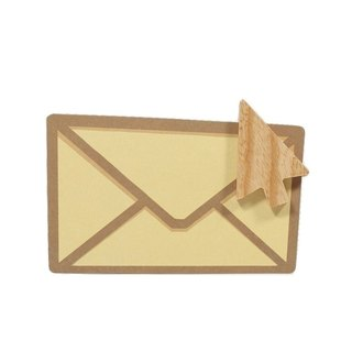 Unic natural wood modeling magnet (mouse arrow) + boutique gift card