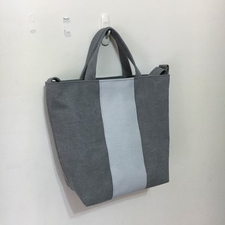 Straight shoulder bag, washed gray, light gray