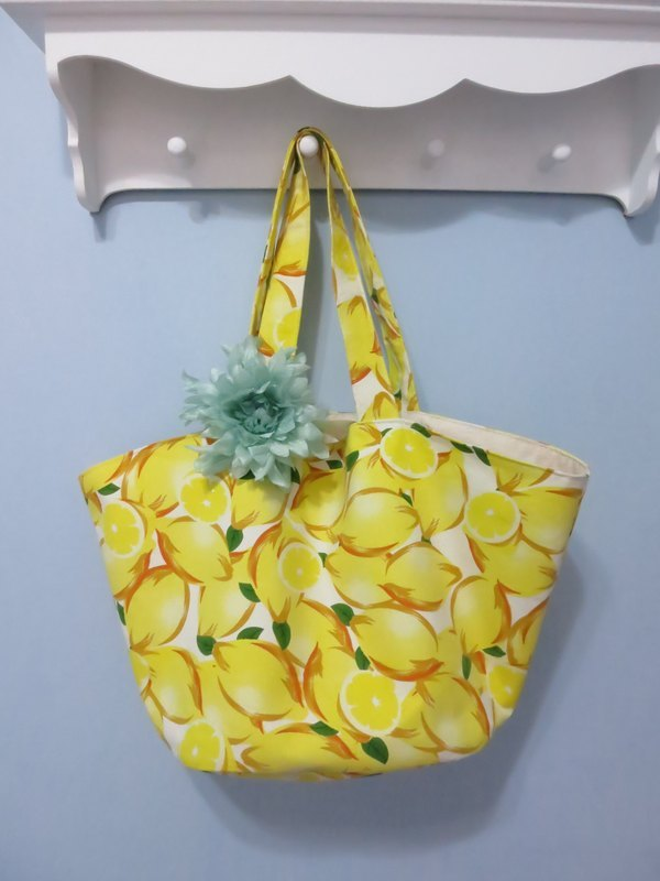 Warm Summer Lemon colorful hand-made bags