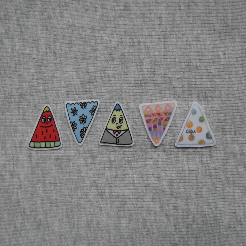Group of small triangle stickers