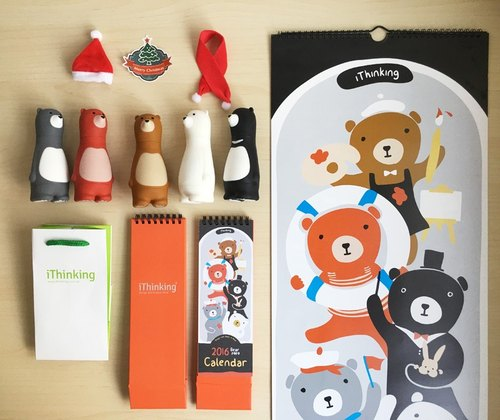 Happy Christmas [lying] Wu Xiong infested group (bonus accessories bag, desk calendar, calendars ..)