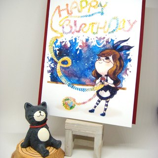 【Pin】Greeting Scarf│Print│Birthday card with envelope at your choice