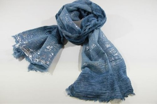 "Earth tree earthtree- ""Kyoto staff person manually vegetable dyes Scarf"" - wind (organic cotton 100%)"
