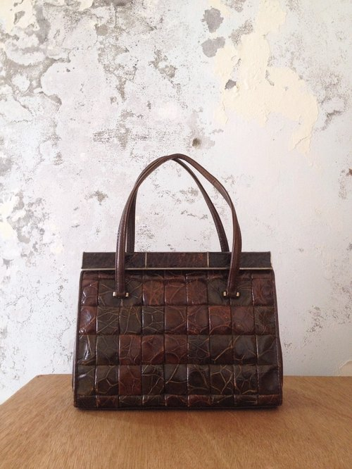 Vintage time [classic antique stitching leather bag] abroad back to vintage bag VINTAGE