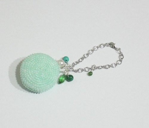 Super Healing cute green apple color macarons Charm (handmade limited edition)