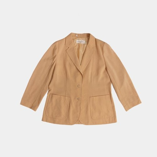 │moderato│ retro car line trim cream beige vintage cotton leisure suit coat / girl personality. Literary Girl