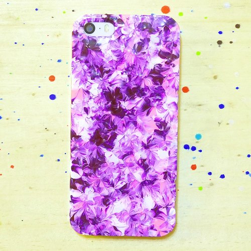 Pastoral Series ll ll glamorous purple cherry color hand-painted oil painting style Phone Case