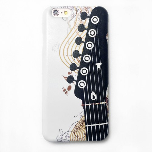 [Rock and roll - guitar] white shell, iPhone 6,6Plus phone shell, large tail rogue Valentine's Day