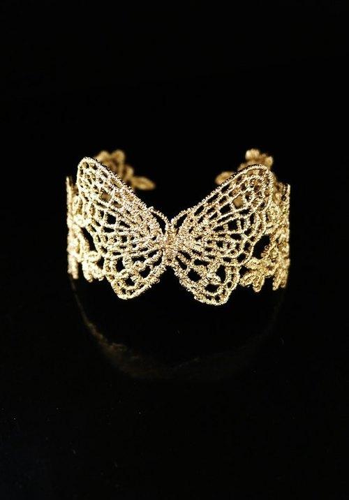 [Christmas] happy flying - metal lace bracelet (gold) Return of Happiness