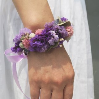 I Wedding collection I romantic waltz _ bride / bridesmaid wrist dried flowers _ Wedding / Wedding Photography (customizable)