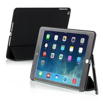 SIMPLE WEAR iPad Air Cover-Mate + dedicated hard shell protective sleeve - matte black (4716779653519)