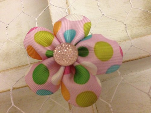 [100604] handmade flowers braided 5 (foundation bubble small diamond flower) hairpin / tress / baby hair band / births ceremony