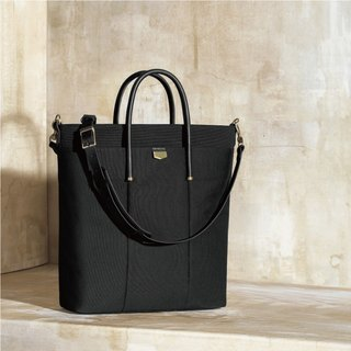 【ADOLE】 Triumph long tote bag - black ink