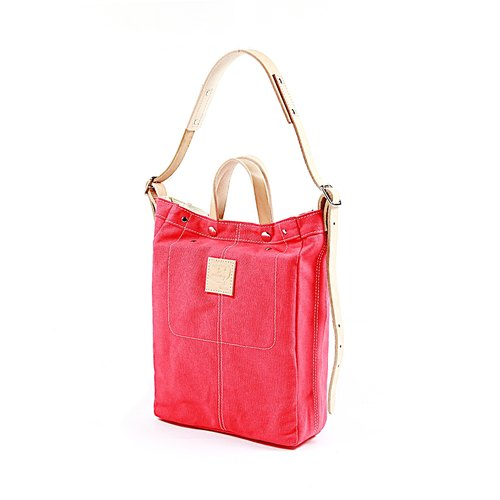[Quote Studio] Cross-Over canvas bag: :( M) pink