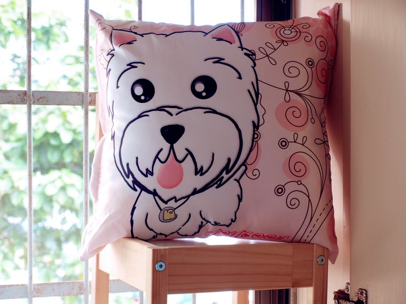 """NONCOOL‧ Cool farming"" West Highland White Terrier to hold pillow 45X45cm"